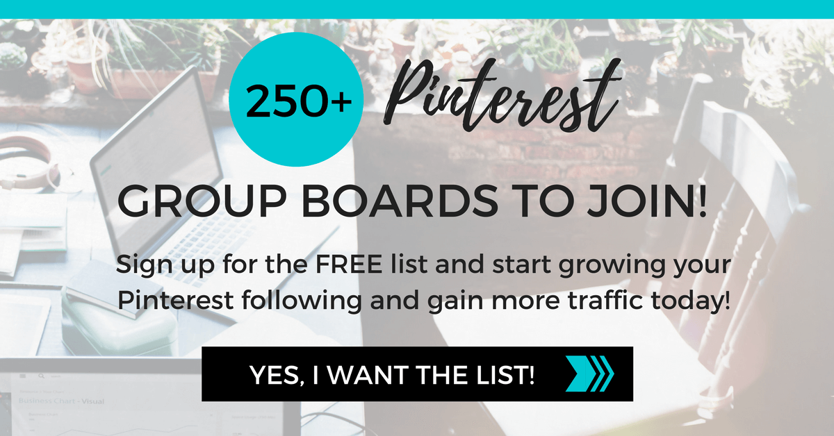 250 Pinterest Group Boards to join! Start growing your following today!