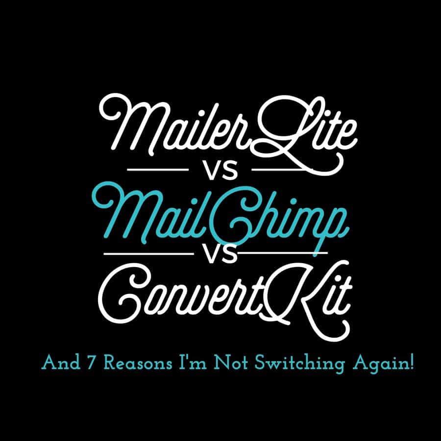 MailerLite vs. MailChimp vs. ConvertKit