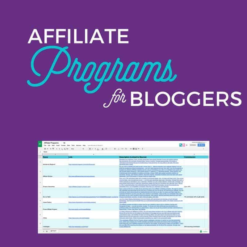 Free Resource Affiliate Programs for Bloggers