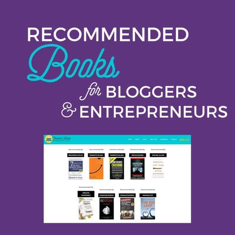 Recommended Books for Bloggers & Entrepreneurs