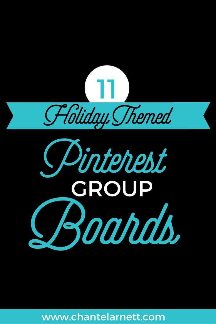 11 Holiday Themed Pinterest Group Boards