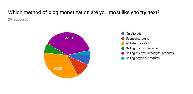 Blog Monetization Survey Results