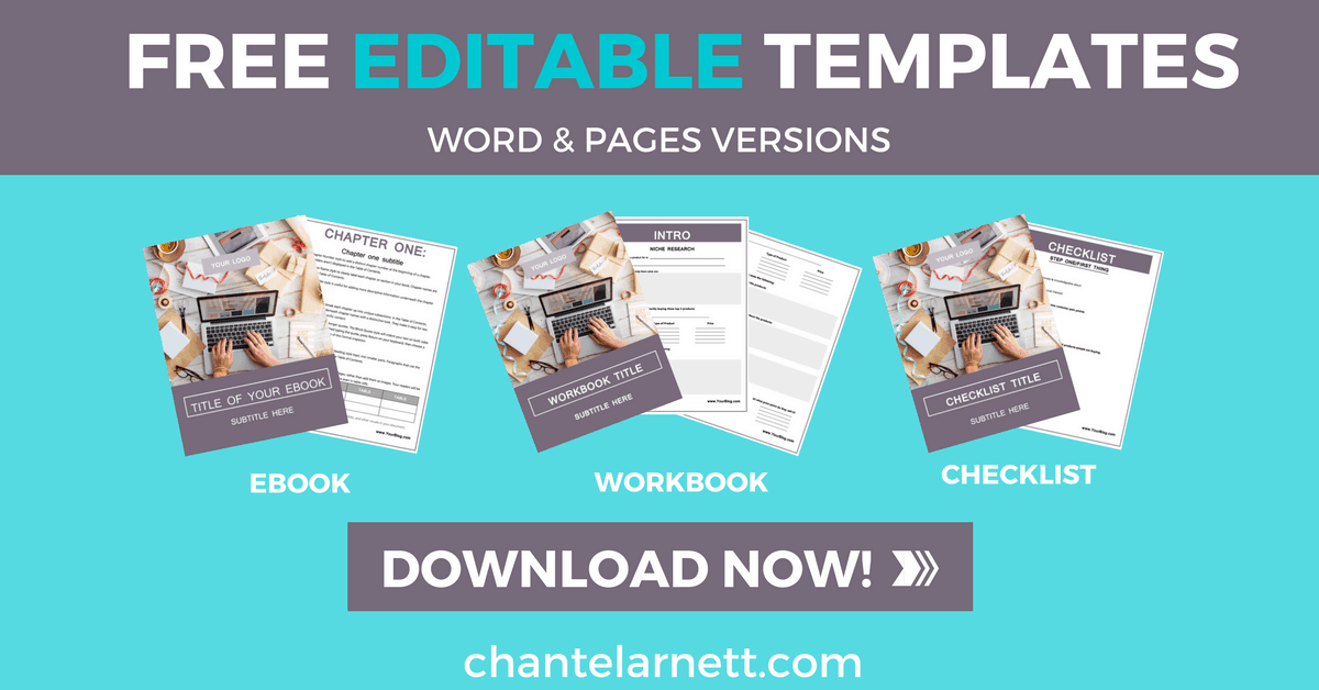Free Editable Templates! Create your own Lead Magnets with these customizable templates!